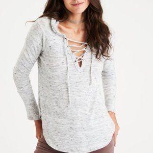 American Eagle Soft & Sexy Gray Sweatshirt